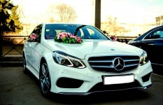 Mercedes E class w 212 2016 with driver. Wedding car hire in Kharkiv.