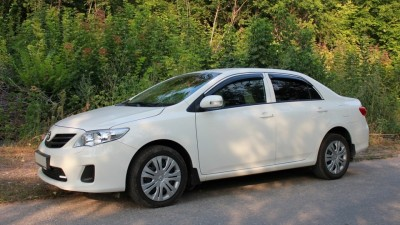 Hire Toyota Corolla with driver in Kharkiv