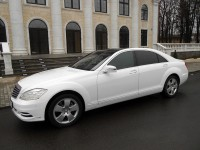 Hire wedding car Mercedes S w221 White