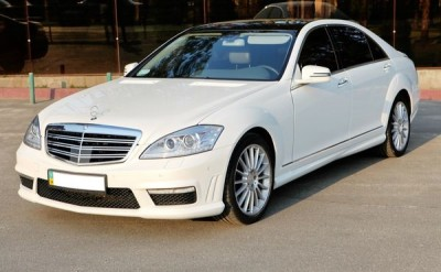 Hire wedding car Mercedes S w221 White with driver