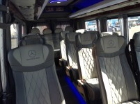 Hire 21 seater Mercedess sprinter 515 VIP Silver in Kharkiv with driver for wedding