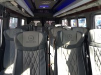 Hire 21 seater Mercedess sprinter 515 VIP Silver in Kharkiv with driver.  wedding bus