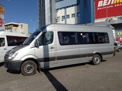 Hire 21 seater Mercedess sprinter 515 VIP Silver in Kharkiv with driver.