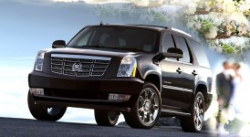 Cadillac Escalade ESV Long with a driver