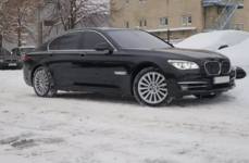 black big bmw 750