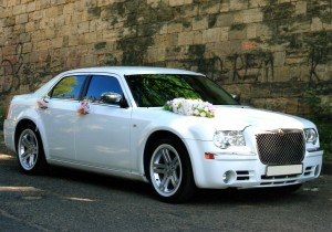 Hire Chrysler 300C white with driver in Kharkiv
